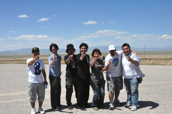 Vegas Bob & Japanese Film Crew at AREA 51 Nevada 5-7-2011