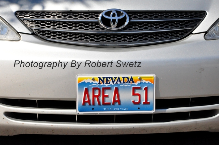 Vegas Bob's New License Plate AREA 51